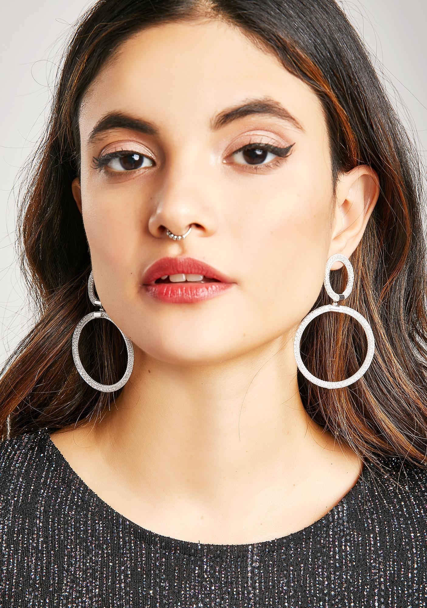 Double Entendre Circle Earrings