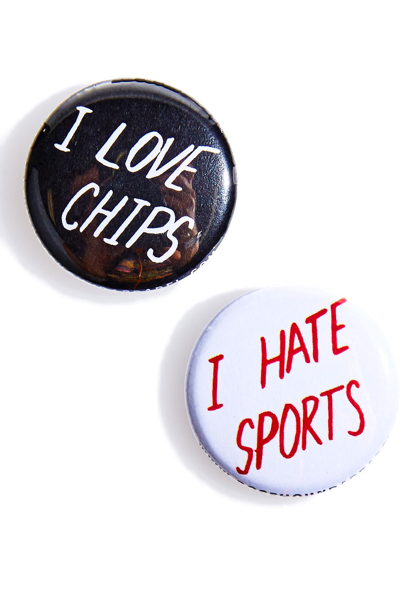 Rosehound Apparel Chips 'N Sports Pin Set