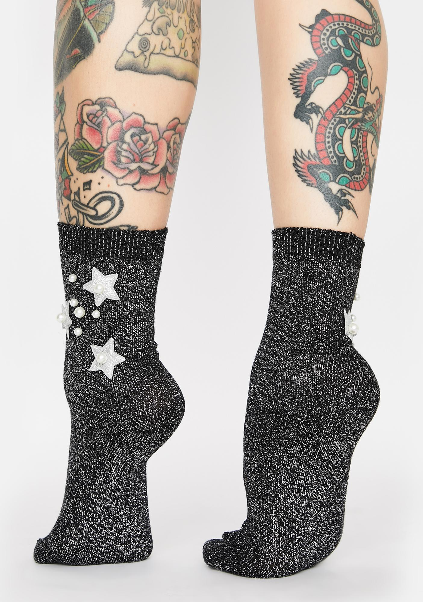 Stars Out Glitter Socks