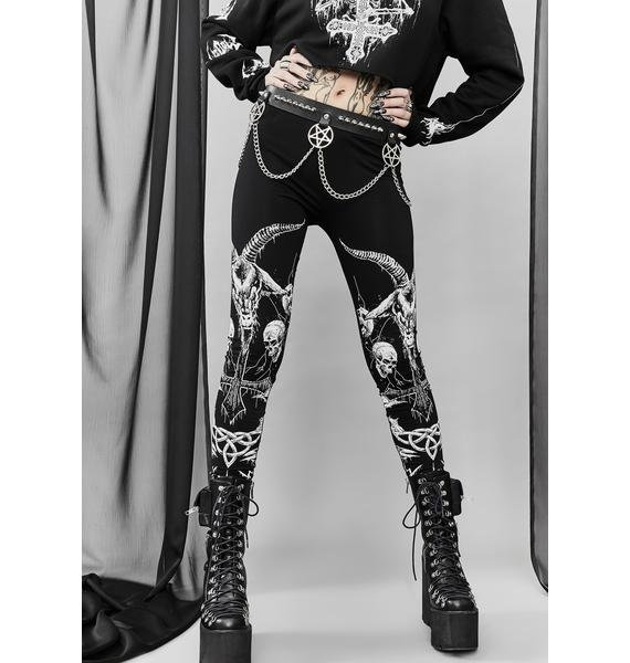 Widow Lord Of Darkness Printed Leggings
