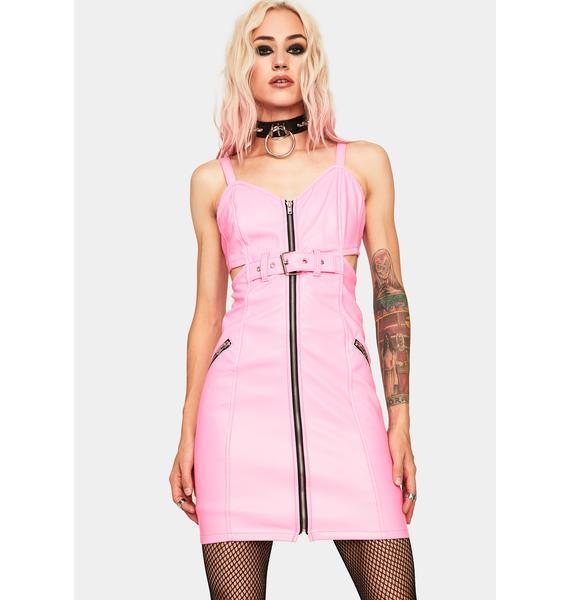 Tripp NYC Pink Zipper Bodycon Dress