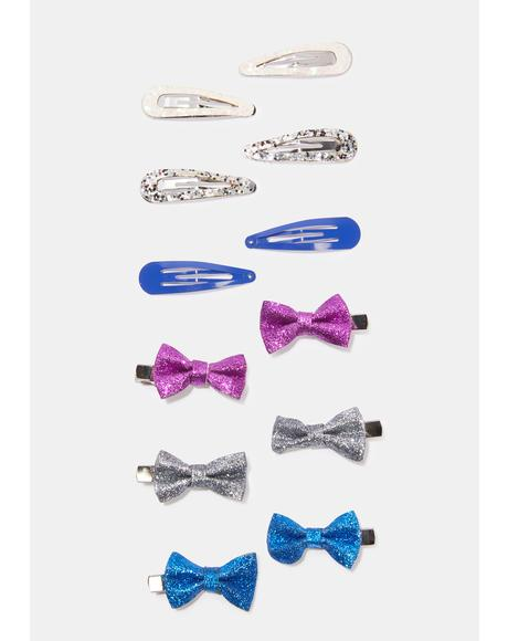Bow Me Away Hair Clip Set