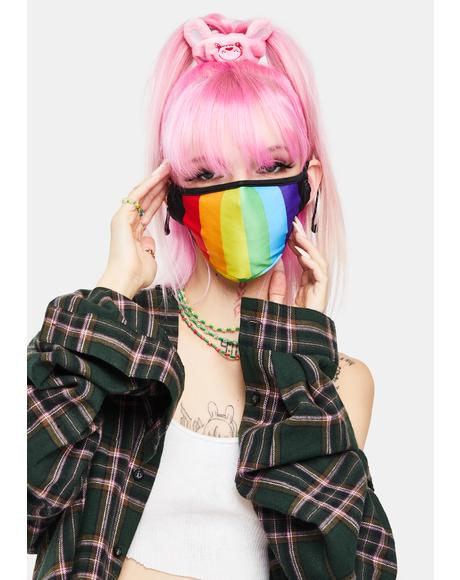 Pride Rainbow Face Mask
