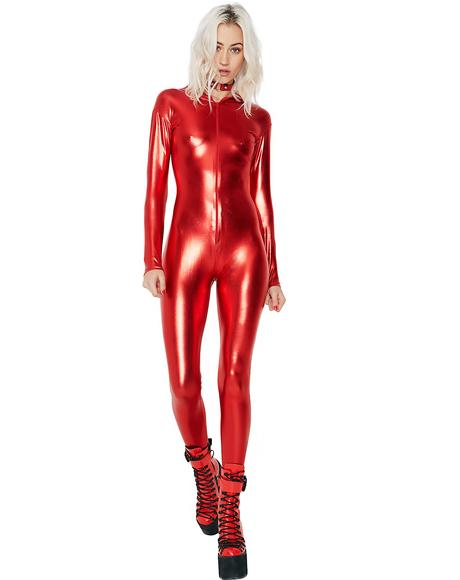 Fire Mission Possible Hooded Catsuit