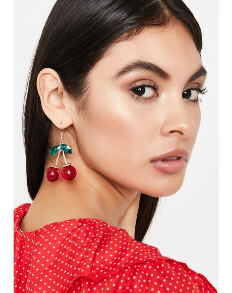 Eat You Up Cherry Earrings