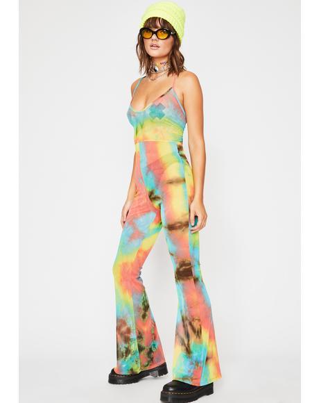 Festival Fusion Tie Dye Jumpsuit