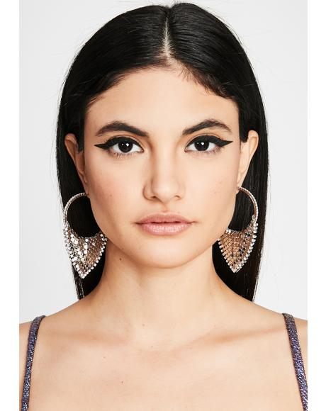 Princess Status Hoop Earrings
