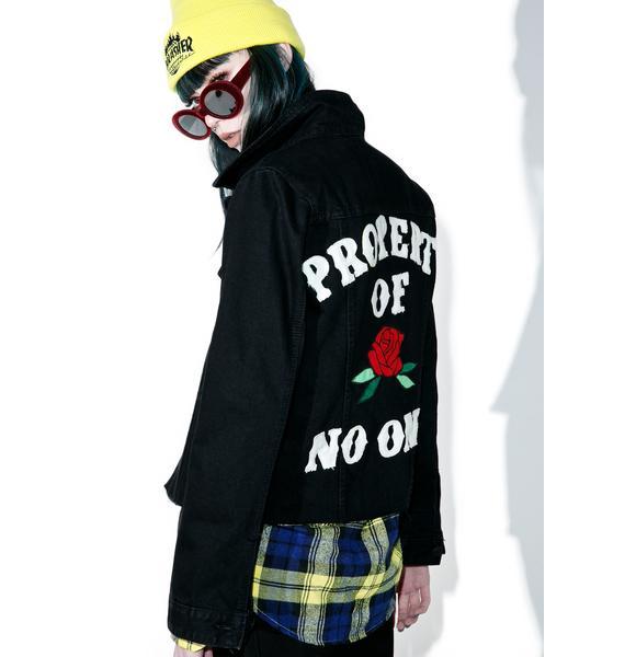 High Heels Suicide Property Of No One Denim Jacket