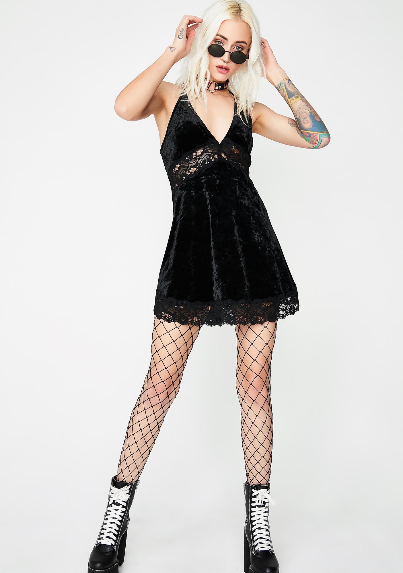 Dark Love Velvet Dress