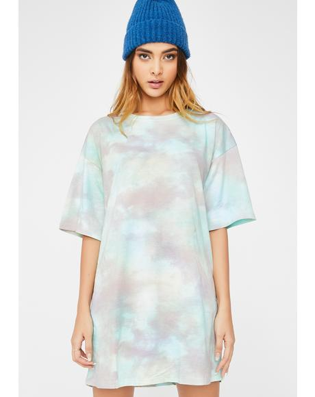 Pastel Tie Dye Sunny Kiss Dress