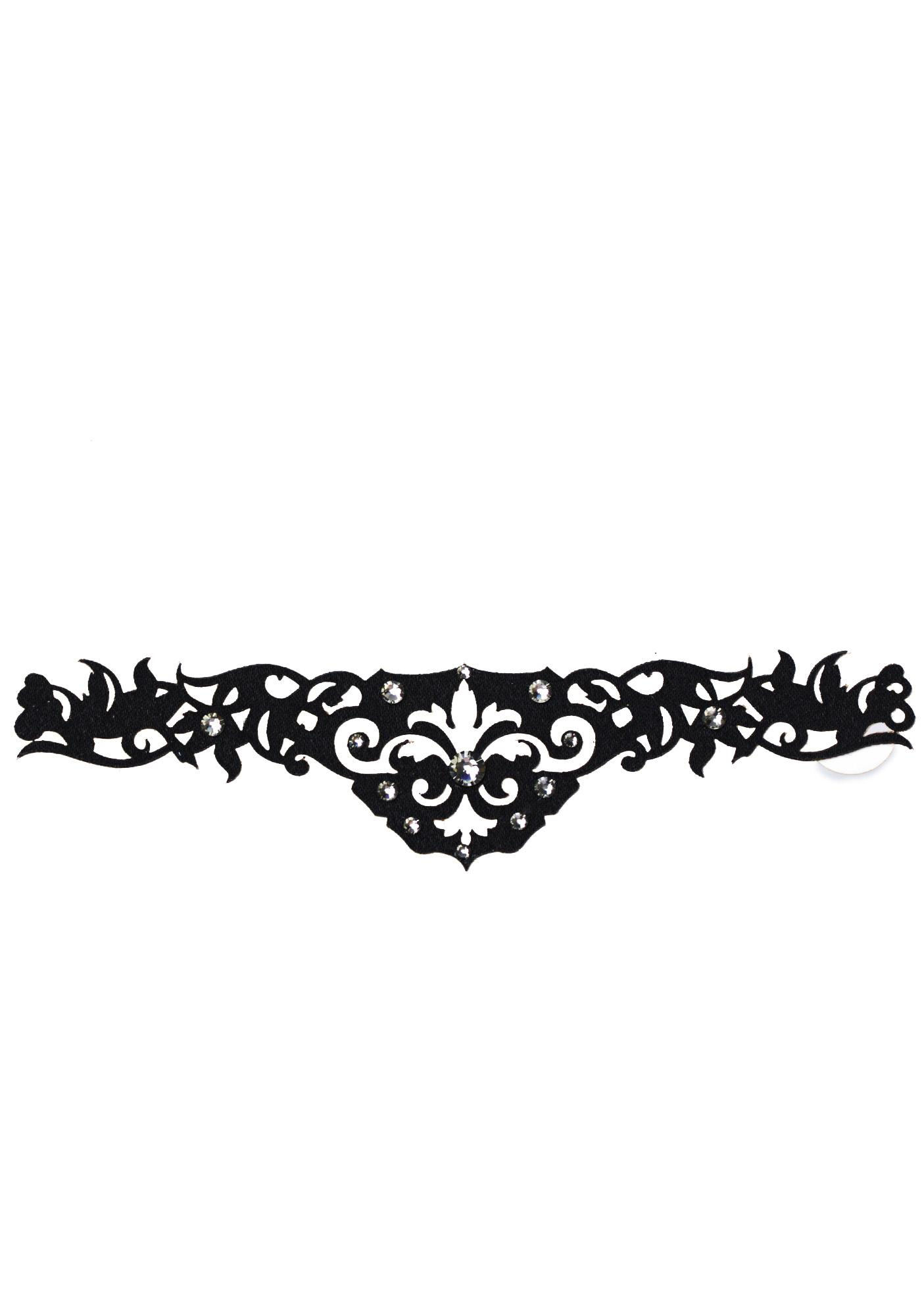 Black Lace Skin Jewelry Amorous Body Jewelry