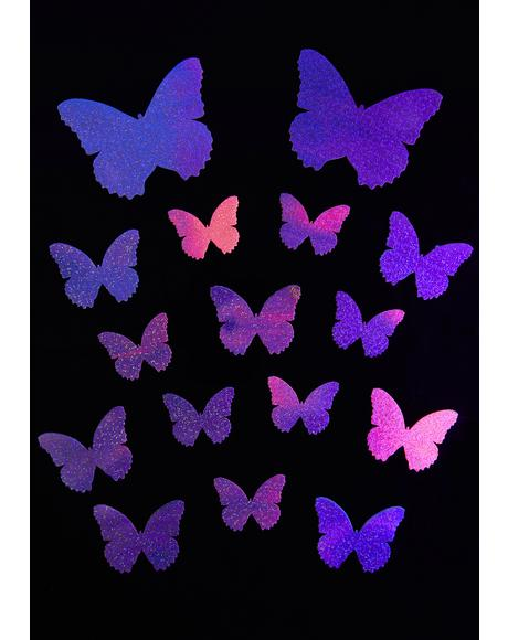 Pastel UV Butterfly Pasties Set