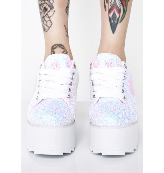 Y.R.U. Lala Heart Glitter Platform Sneakers