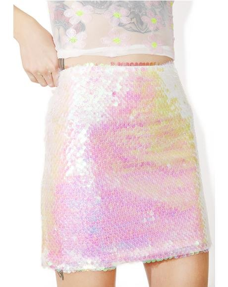 Mermaid Sequin Mini Skirt
