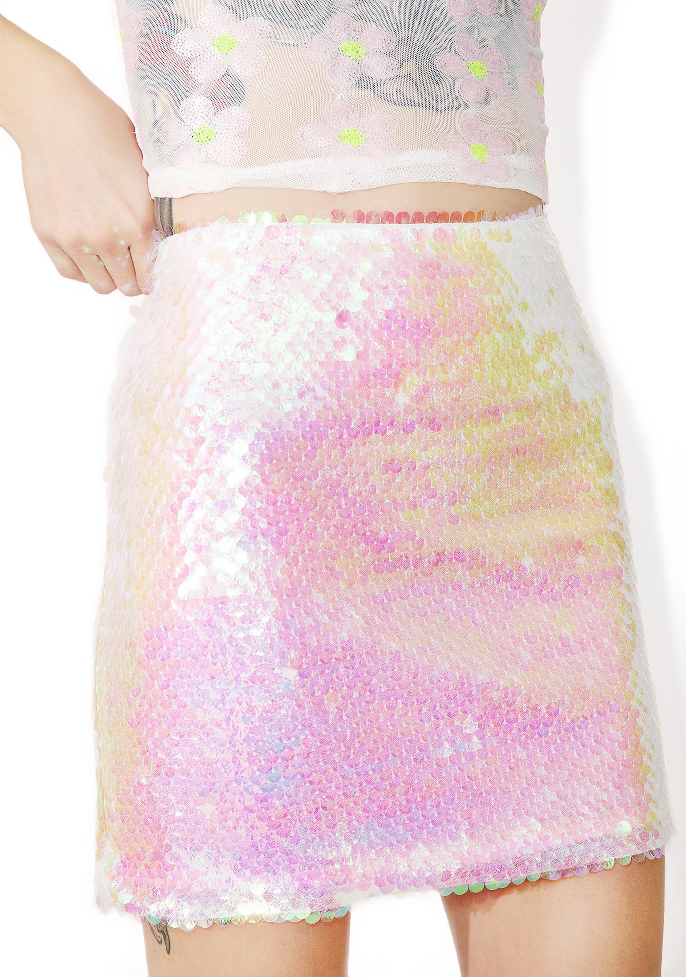 Jaded London Mermaid Sequin Mini Skirt