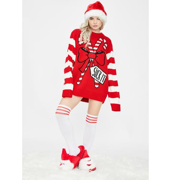 Suck It Candy Canes Sweater