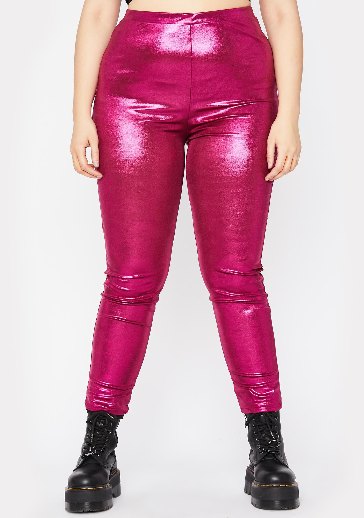 Her Disco Dimension Metallic Leggings