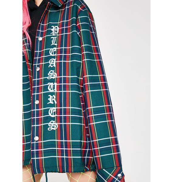 Pleasures Plaid Coaches Jacket