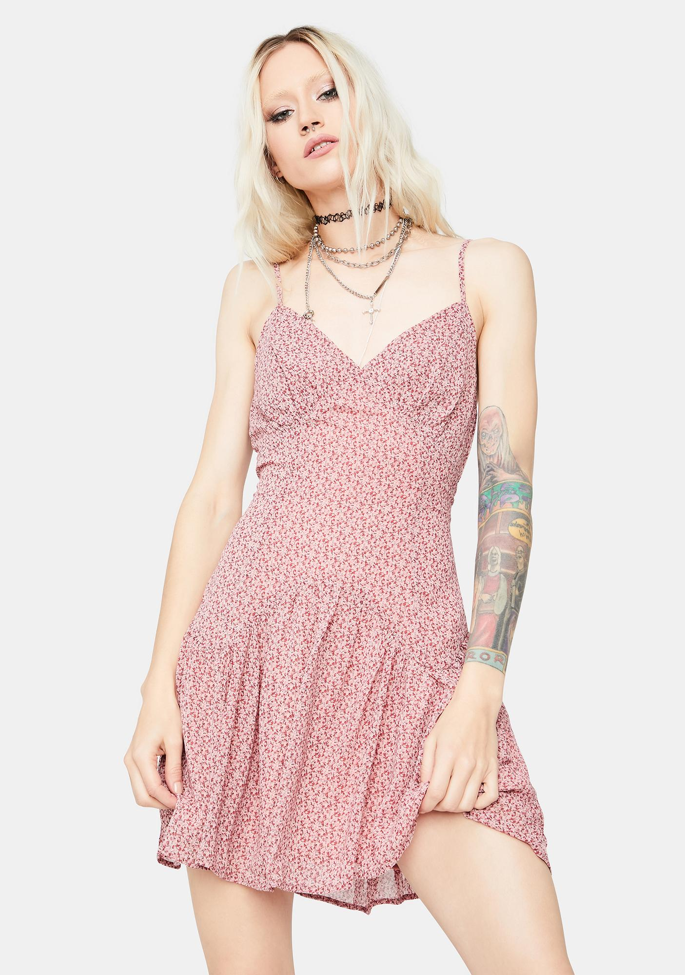 You Are The Sun Floral Mini Dress