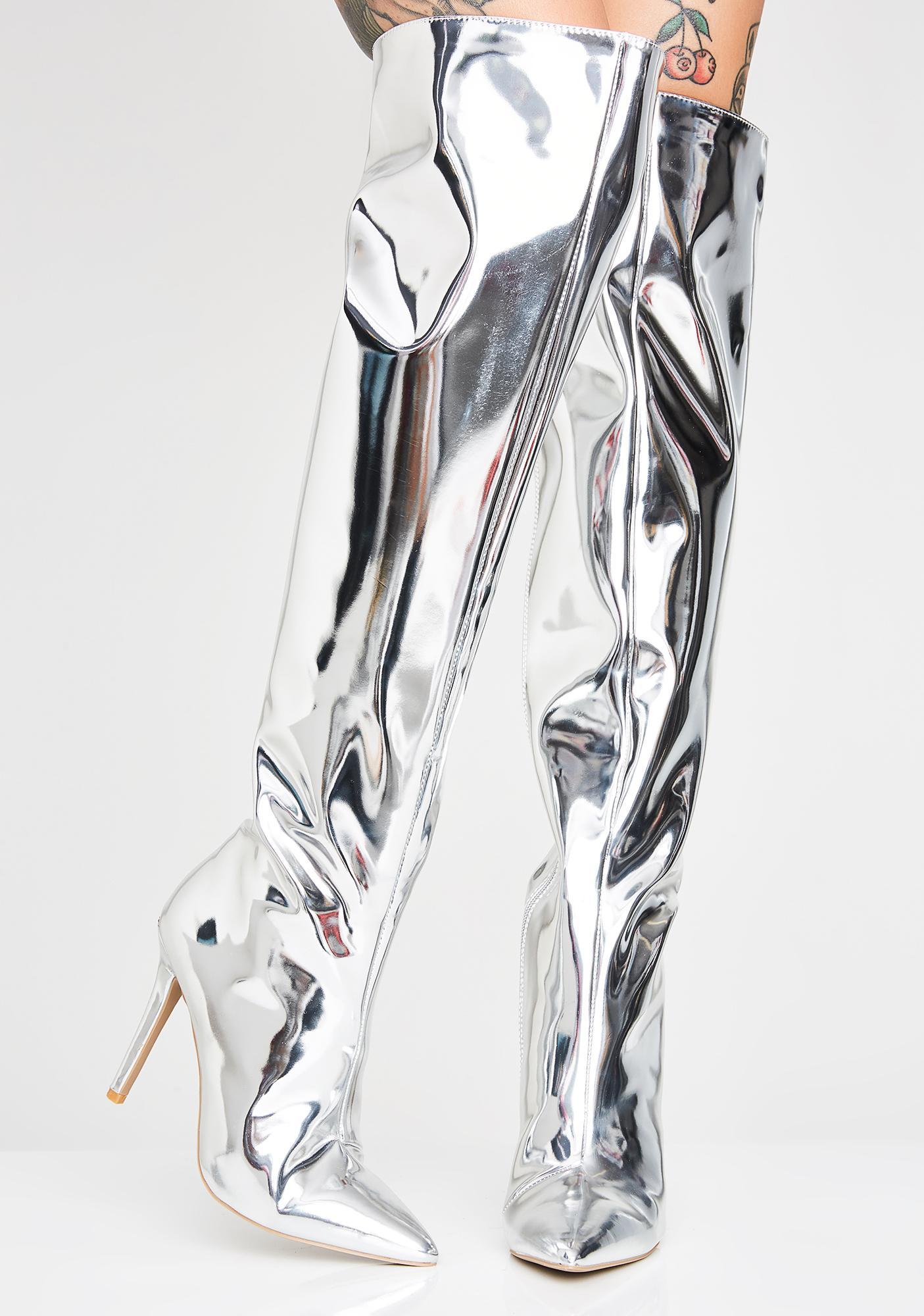 Ultraviolet Thigh High Boots