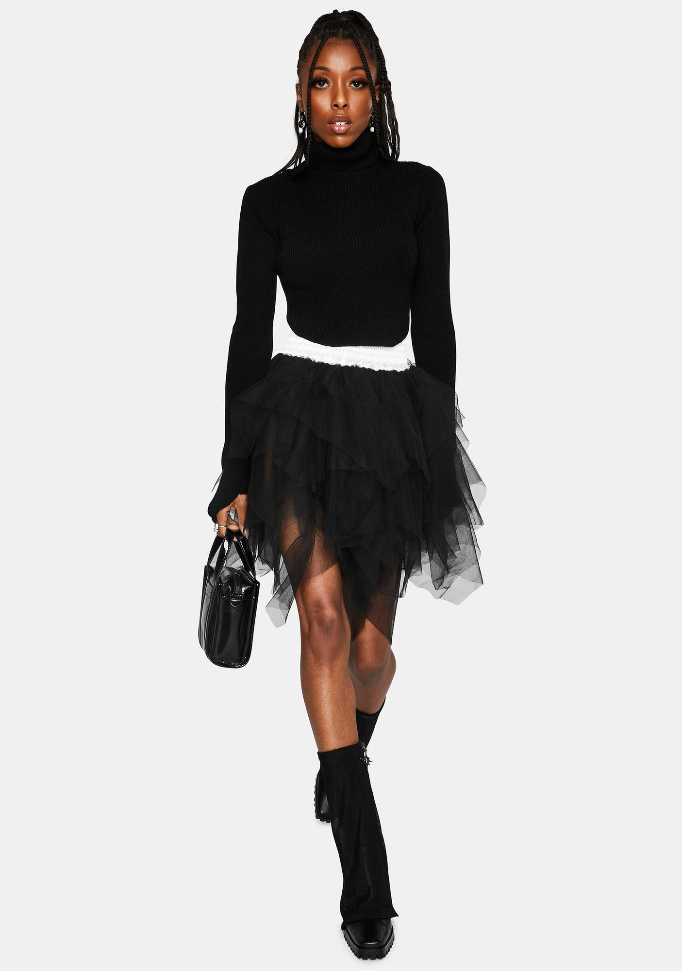 Kiki Riki Twin Flames Shredded Tulle Mini Skirt