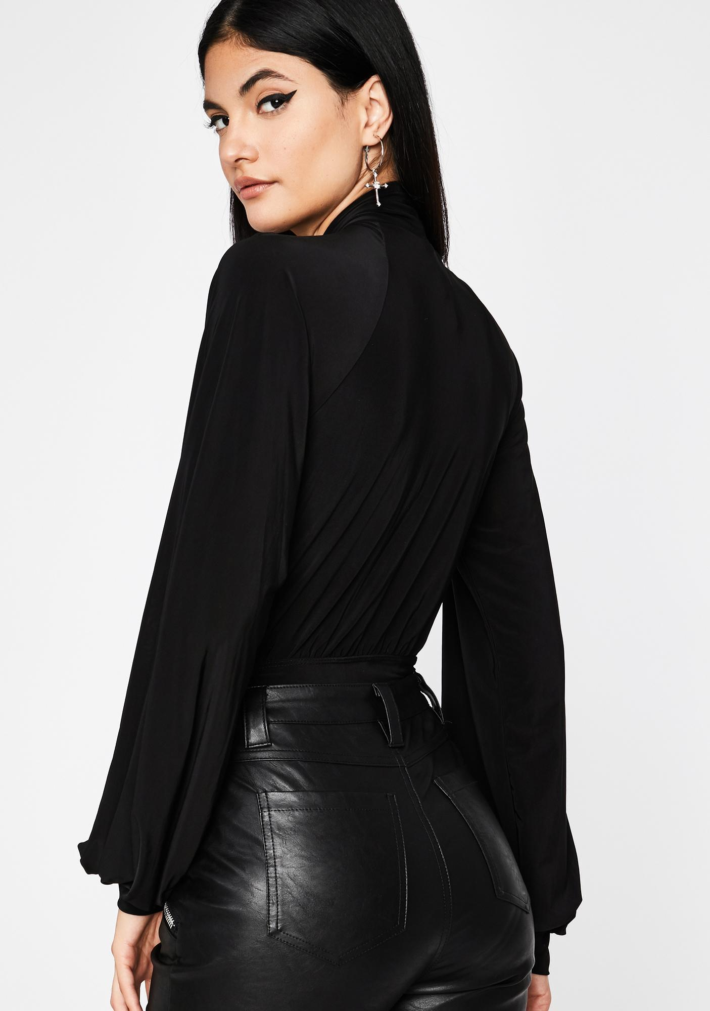 Dark It Comes Naturally Cut-Out Bodysuit