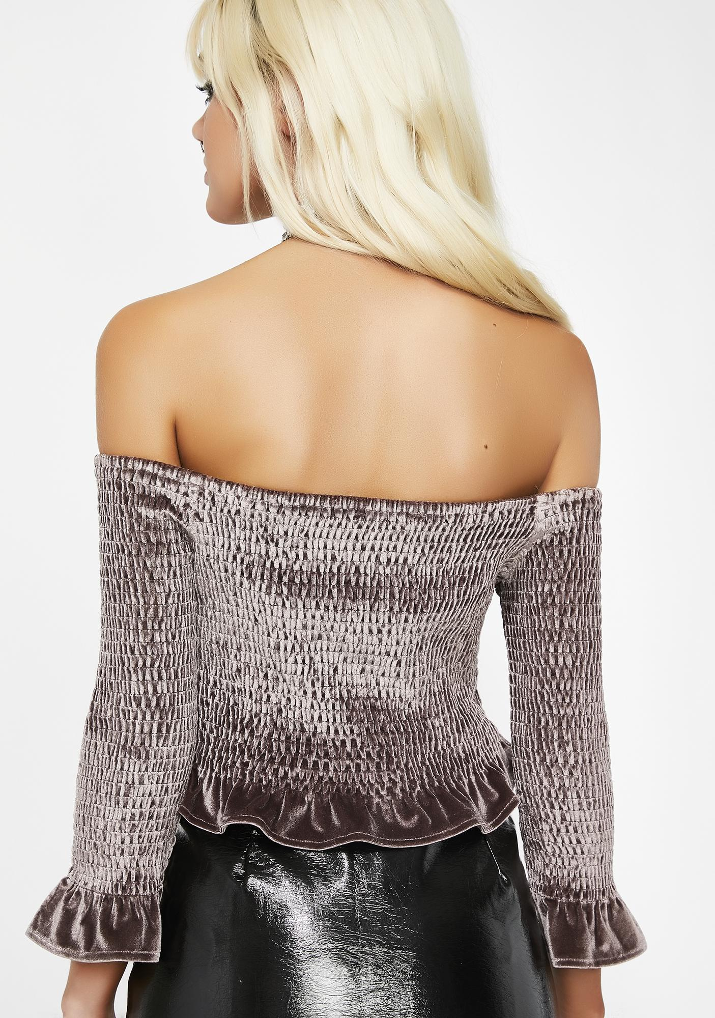 Soft Romantic Velvet Top
