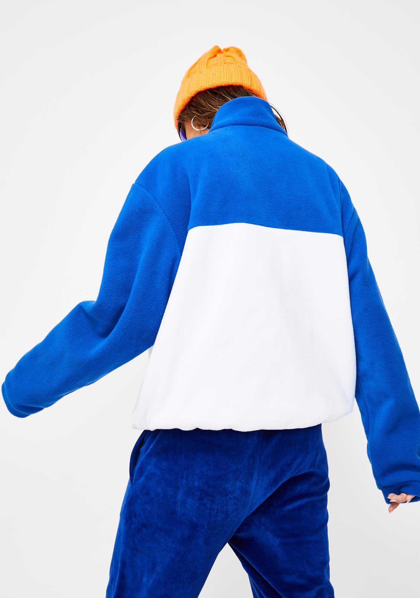 Local Heroes White And Blue Fleece Sweatshirt