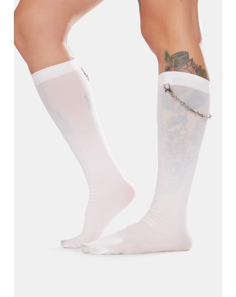 Lil Daredevil Chain Knee High Socks