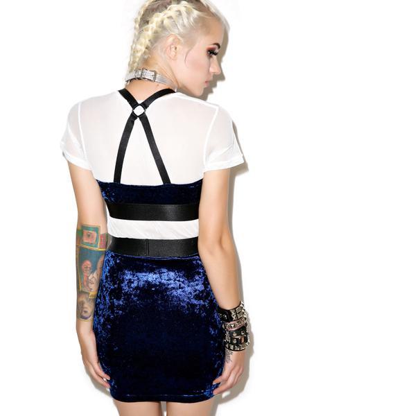 Widow Number One Crush Velvet Garter Skirt