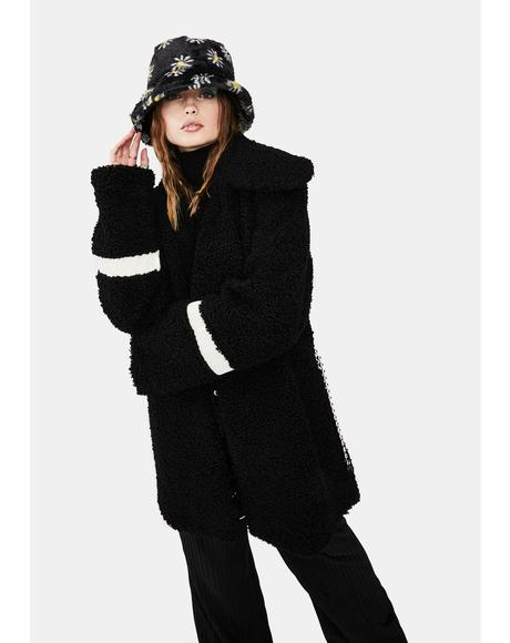 Daisy Daydreams Faux Fur Bucket Hat