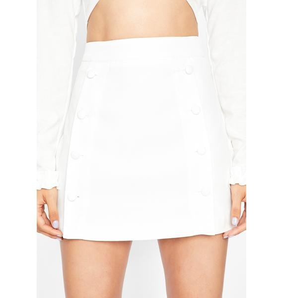Angelic Sweet Talkin' Secretary Mini Skirt