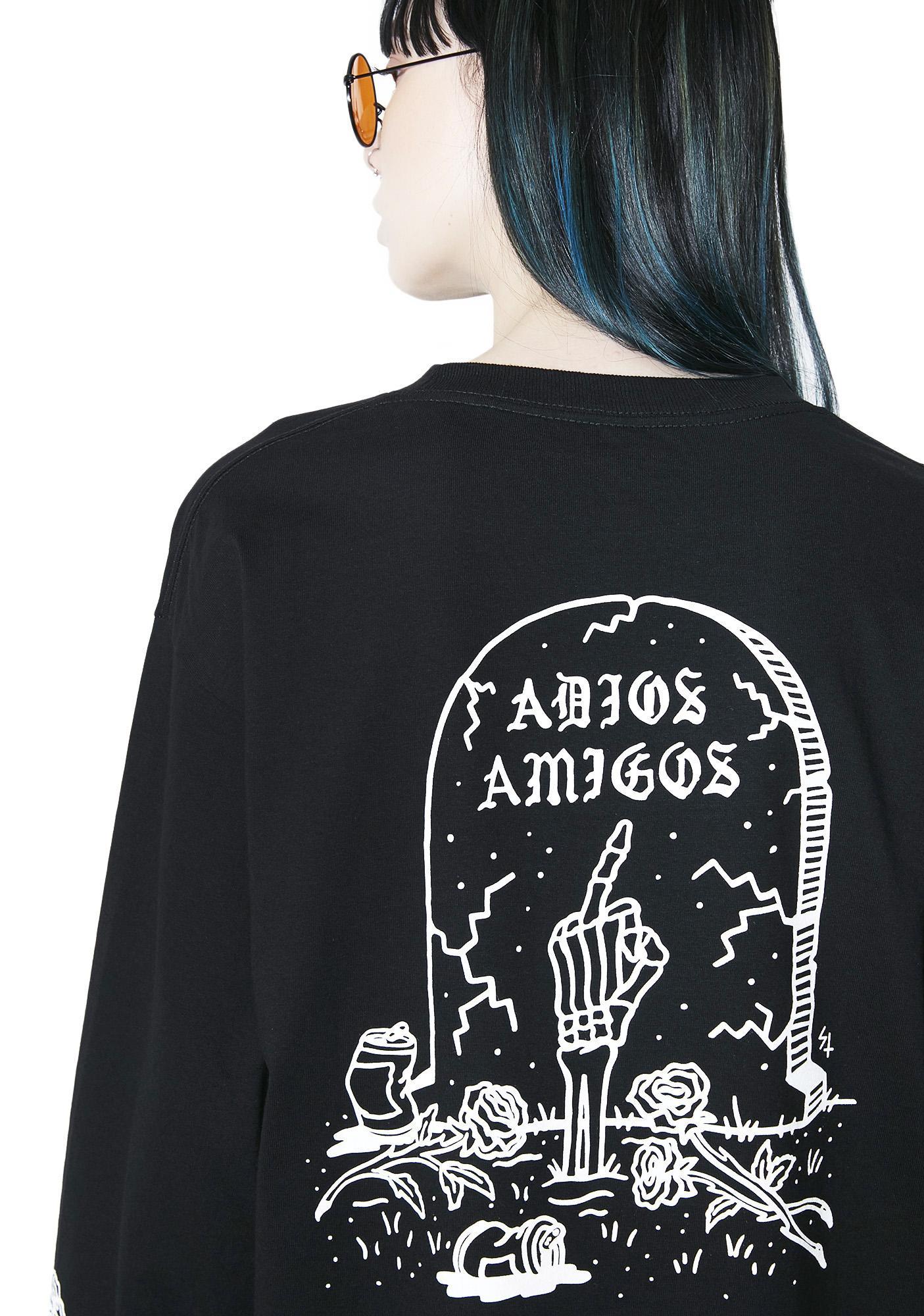 Sketchy Tank Adios Amigos Long Sleeve Tee