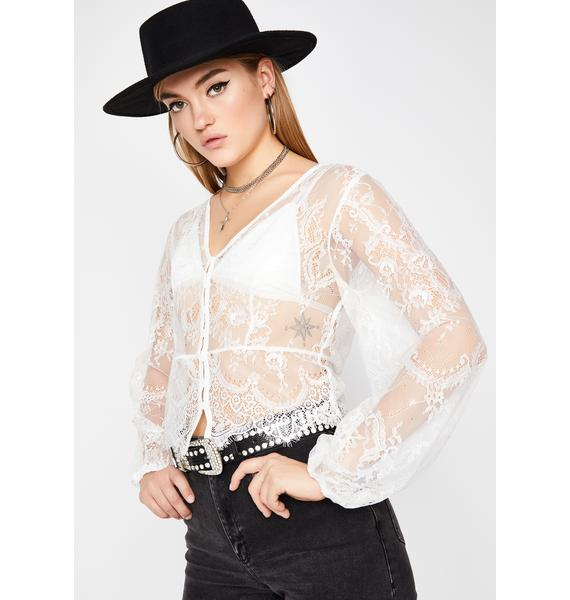 Delicate Truth Sheer Blouse