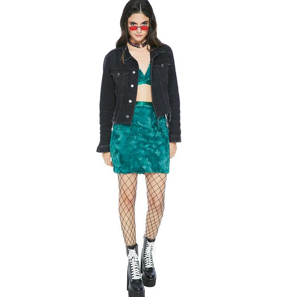 All These Feels Fuzzy Skirt