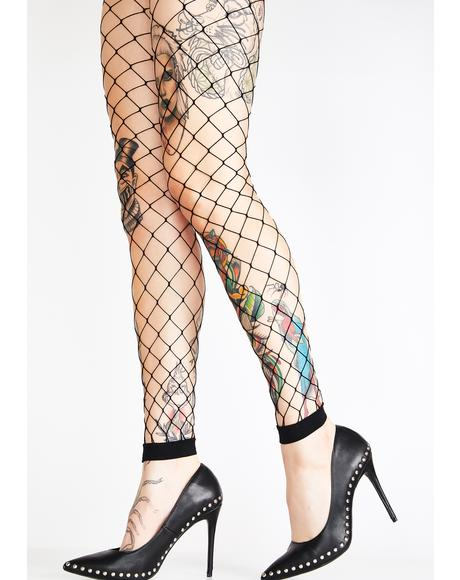 Caught Dead Diamond Net Leggings