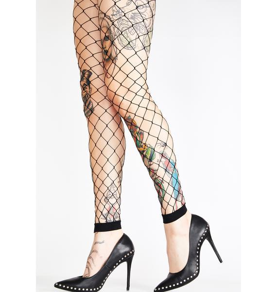 Caught Dead Diamond Net Leggings