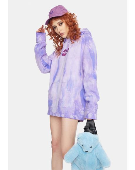 Relax Violet Tie Dye Pullover Hoodie