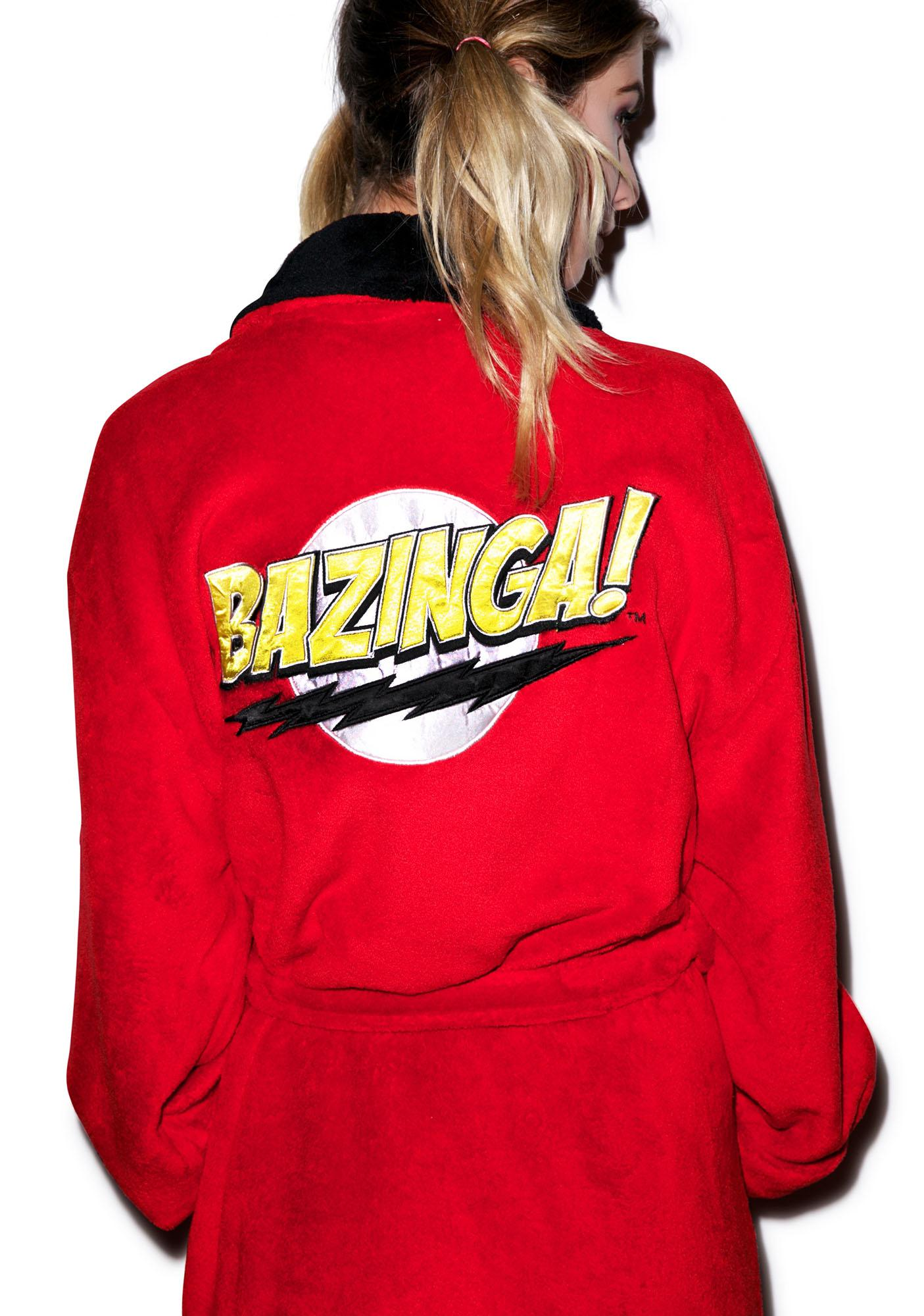 Undergirl The Big Bang Theory Bazinga Hooded Robe