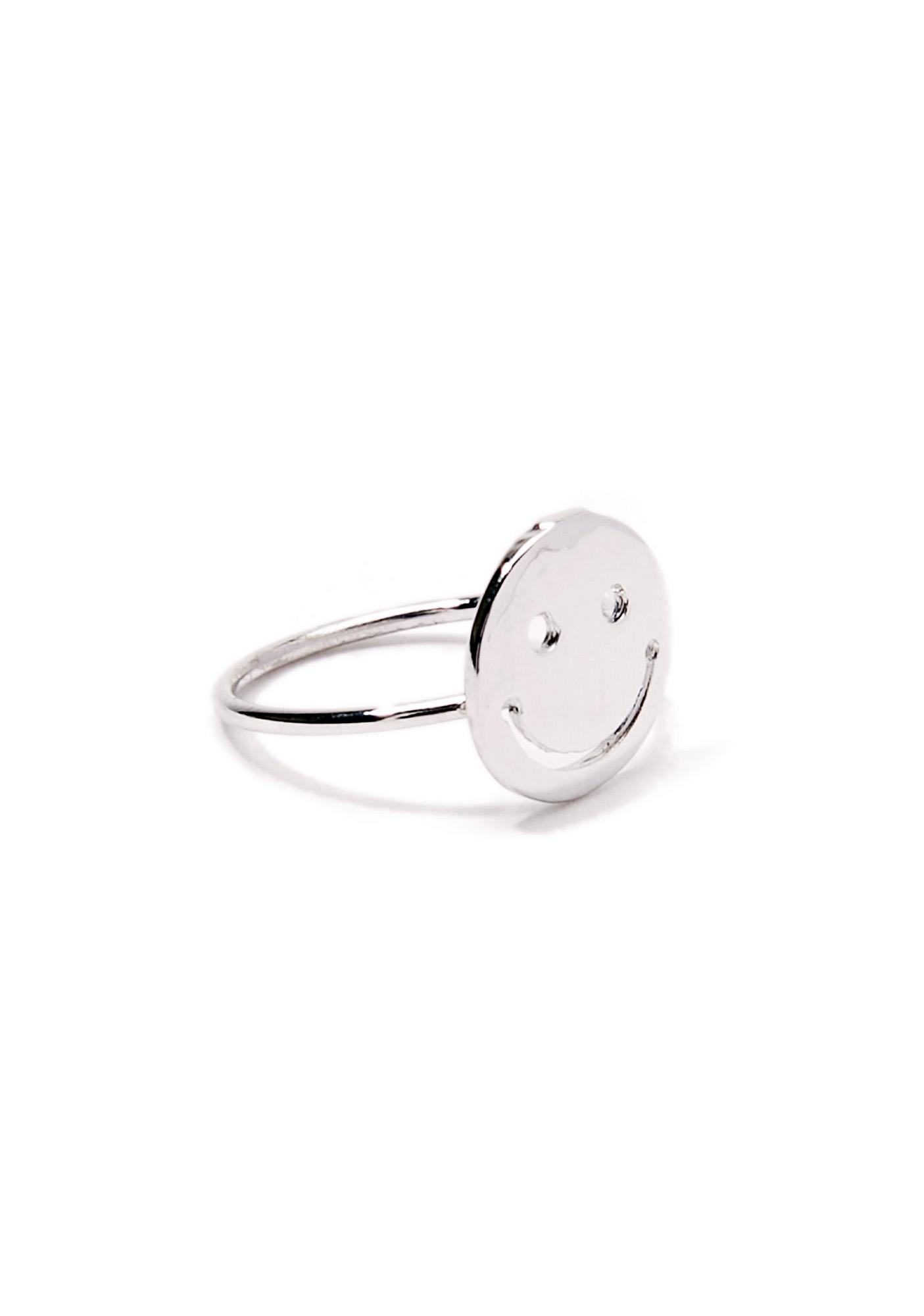Happy Camper Silver Ring
