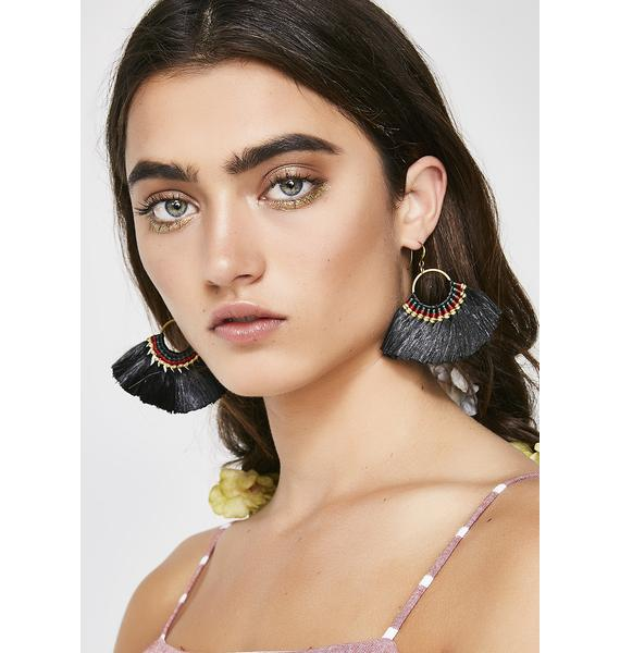 Lead The Pack Fringe Earrings