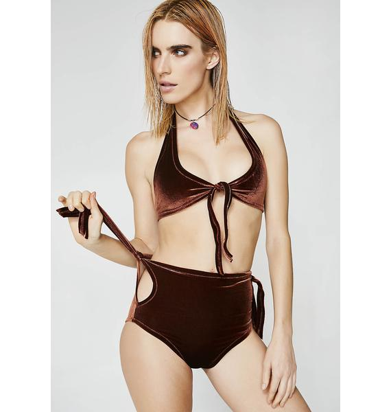 Stardust Swim Brown Sugar Velvet Bikini Set