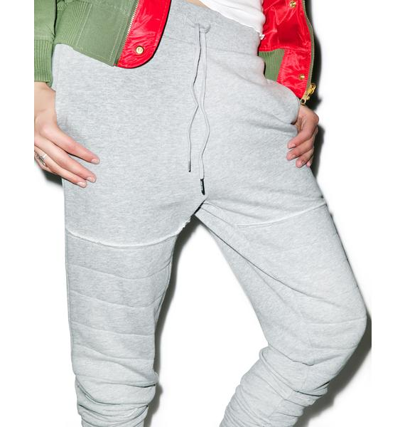 Black Scale Moto Sweatpants