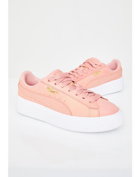 Platform Shimmer Sneakers