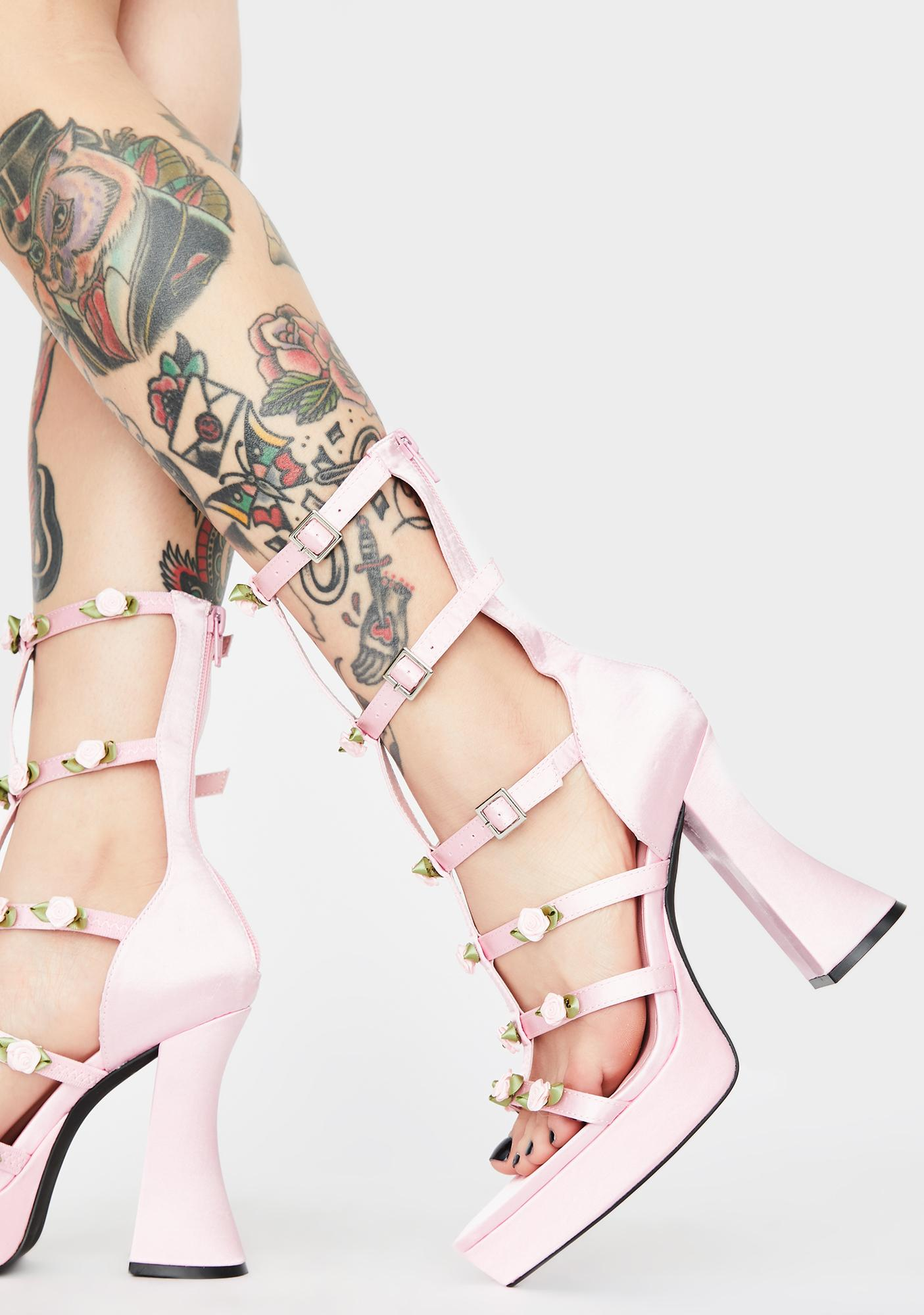 Sugar Thrillz Sweet Softcore Thorn Caged Heels