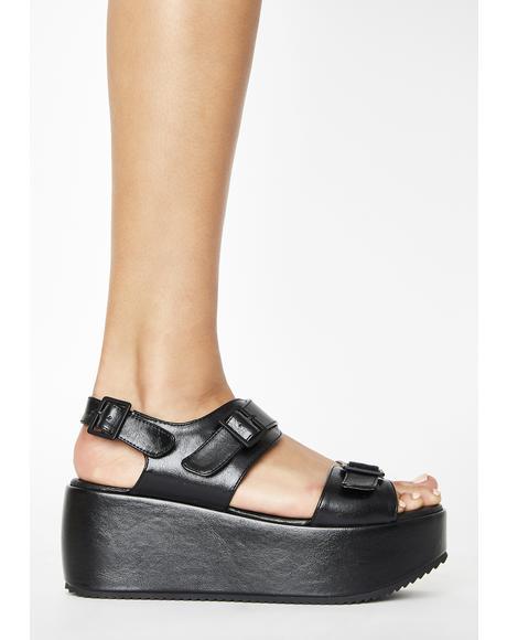 Black Lori Platform Sandals