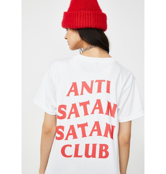 Happy Monday Anti Satan Satan Club Tee