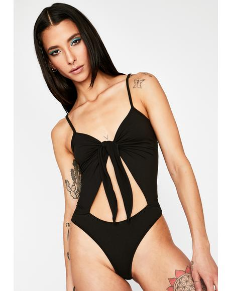Make The Cut Front Tie Bodysuit