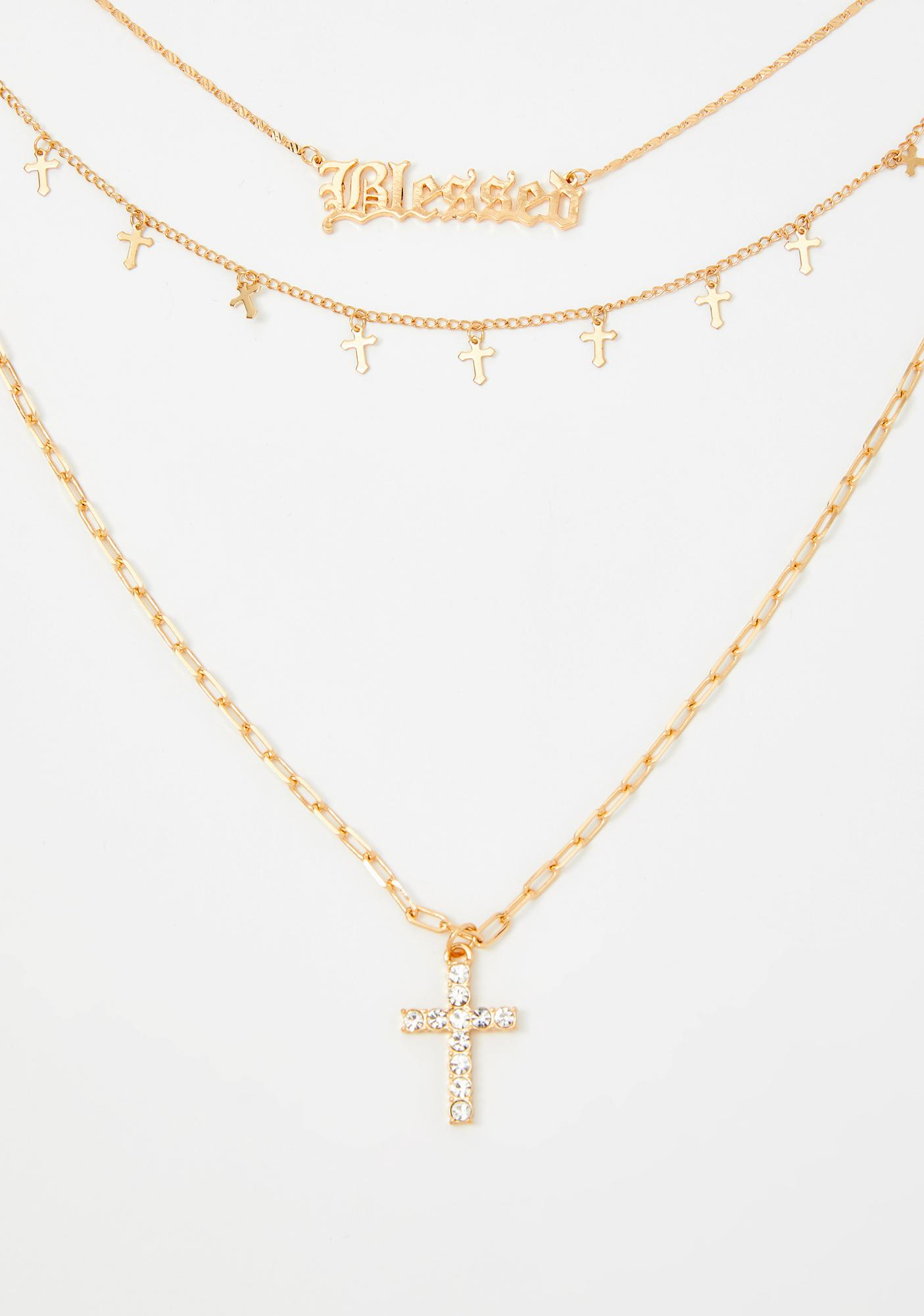 Stay Blessed Layered Necklace