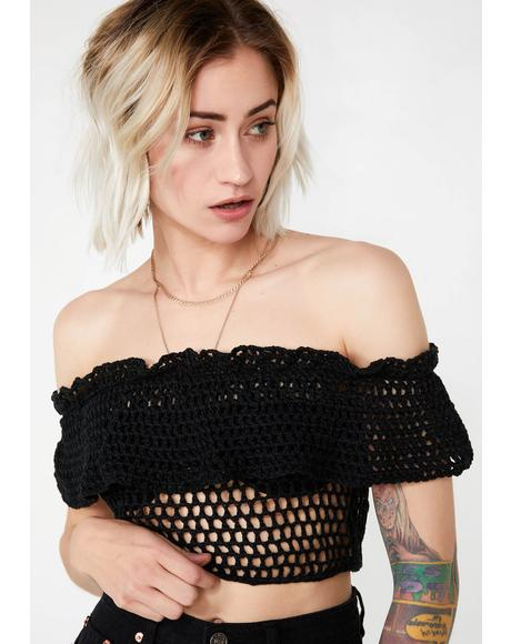 Savage Sweetheart Crochet Top